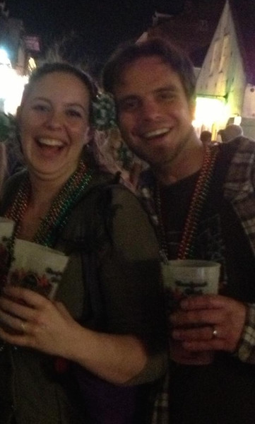 Jesse and Alex on Bourbon Street the night before the cruise.
