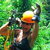 Kim on the Zipline.