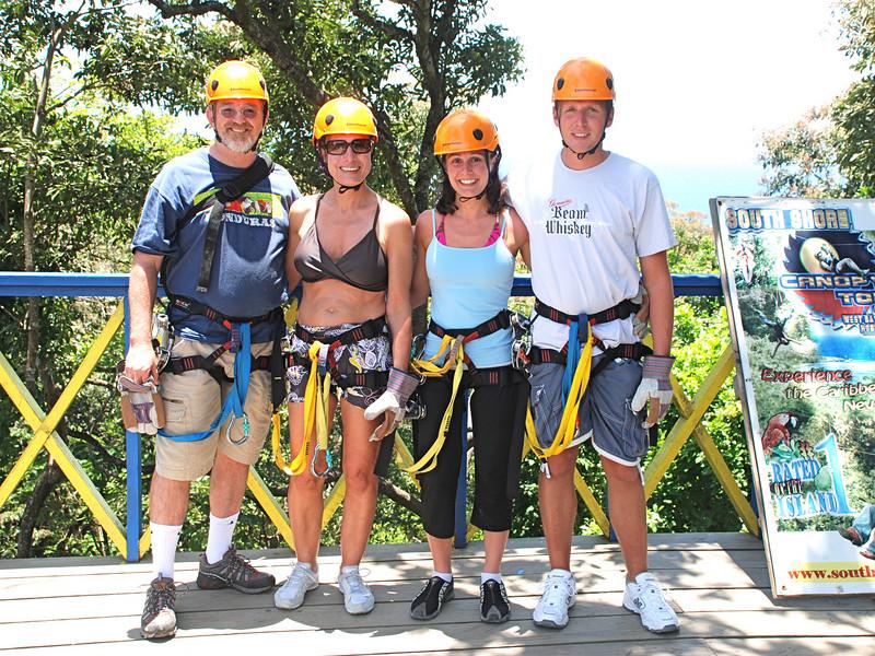 Alan, Kim, Nicci and Chris at the Zipline.