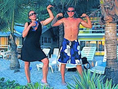 Roatan with Chris and Nicci, 2009