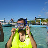 Oscar ready to snorkel on Roatan.