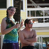 Alex and Jesse on Roatan.