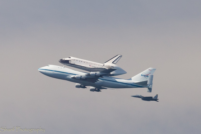 The space shuttle is going to its final destination - end of an era.