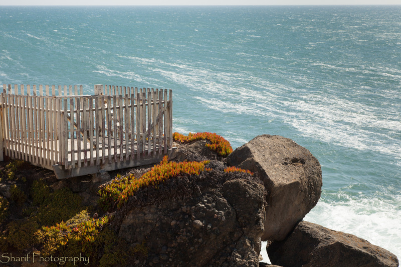 The viewing platform at the Pigeon Point lighthouse.