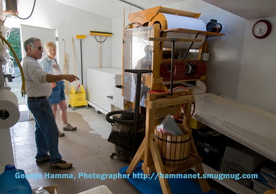 The berry sorter and press, used with the cranberry crop.