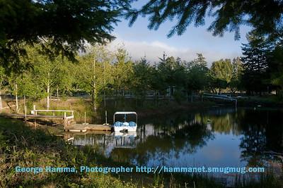 The pond by the farm house near Bandon, OR.