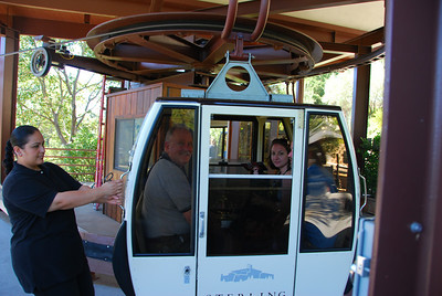 Ted, Megan, Margo, and John in the gondola at Sterling Winery.