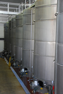 These are some of the fermenting tanks at Sterling.