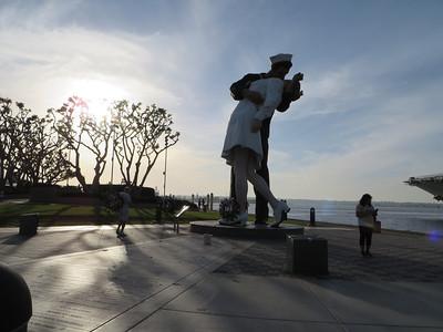 A commemorative statue in San Diego Harbor.
