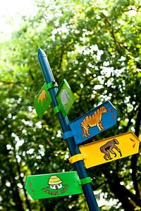 Zoo street signs of Nikolaev, Ukraine.