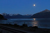 Turnagain Arm near Beluga Point, 2:07 a.m.