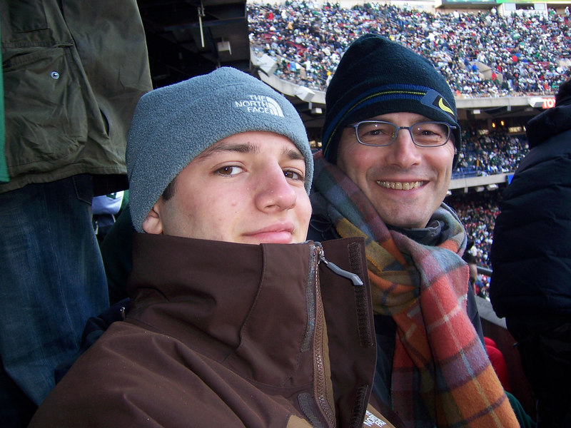 Solomon and Larry at the Jets game on December 31, 2006. Jets beat the Oakland Raiders to qualify for the playoffs.