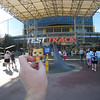 Gold Kitty is going for a ride on Test Track