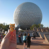 The next day Gold Kitty goes to EPCOT.