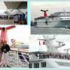 2/23/09<br /> <br /> BON VOYAGE<br /> These photos are courtesy of my friend Sharon who ran out on a jetty to capture our departure, a passenger on the ship, and the collage and embarkation, from me.  The cruise was wonderful.  We sailed on the Carnival Sensation.  It was newly remodeled and just beautiful inside.  Thank goodness we had smooth seas as well.  What a great trip!