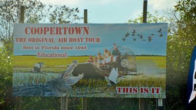 Coopertown, Florida Air Boat Ride  http://ray-penny.smugmug.com/Vacation2013/Florida-January/20130116/27598857_F9q4D8#!i=2349405709&k=VT5LzGN&lb=1&s=L