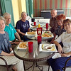 Lunch at Athen's Restaurant. They serve, among other things, white hot dogs common to Rochester NY where we grew up. Several of us had a white hot that day for lunch.<br /> <br /> James Robert Donaldson, Gerald Thomas Donaldson, John Francis Donaldson, Joanne Donaldson Asproulis Nemitz, Joyce Fustino Donaldson. March 19, 2013.