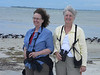 April 21, 2012 (Bunche Beach / Fort Myers, Lee County, Florida) -- Connie & Mary Anne in front of hundreds of Black Skimmers [managing not to be blown away by the winds]