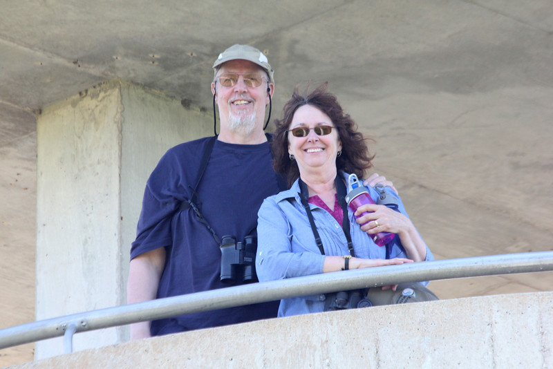 April 23, 2012 (Everglades National Park [on Shark Valley observation tower] / Miami-Dade County, Florida) -- Ken & Connie
