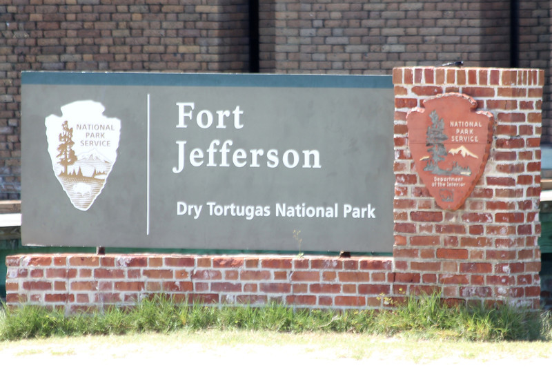 April 24, 2012, (Dry Tortugas National Park [at Fort Jefferson entrance] / Garden Key, Monroe County, Florida) -- Entrance Sign