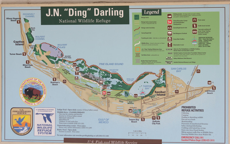 April 28, 2012 (JN Ding Darling National Wildlife Refuge [visitor center] / Sanibel Island, Lee County, Florida) -- Entrance sign