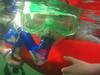 Hayden snorkeling with manatees