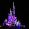 Cinderella's castle was beautiful, especially at night.
