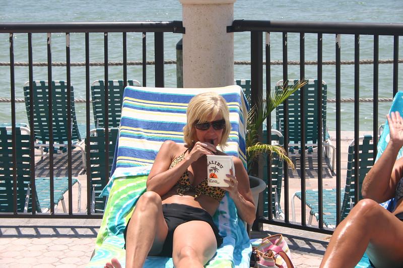 Angie enjoys a refreshing beverage in Florida ( 2011 )