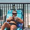 Lori enjoys a refreshing beverage in Florida ( 2011 )