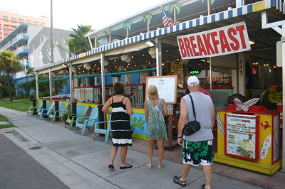 Lori, Angie and Kevin at Crabby Bills in Clearwater Beach Florida ( 2011 )