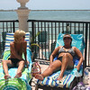 Angie and Lori by the pool in Florida ( 2011 )