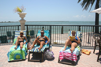 Angie, Lori and Lynann poolside in Florida ( 2011 )