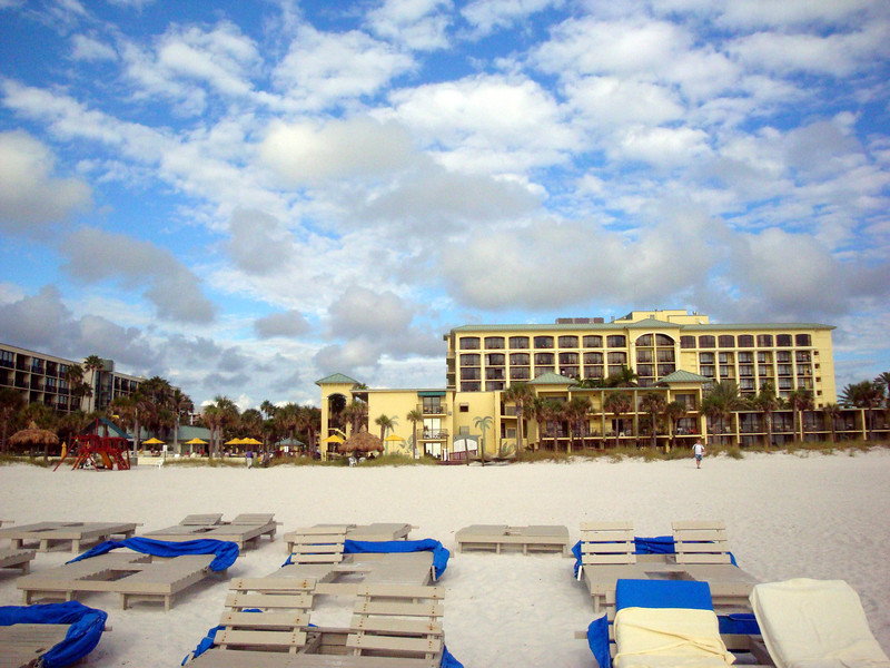 The beach in front of the Sirata resort at St. Pete's Beach Florida ( 2012 )