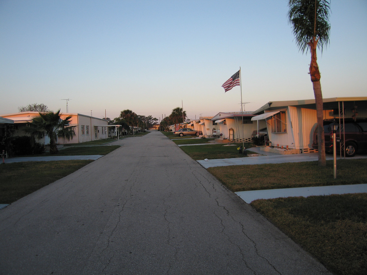 the retirement village, the club house is to the left