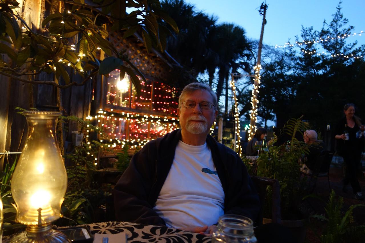 David at the Gourmet Hut.