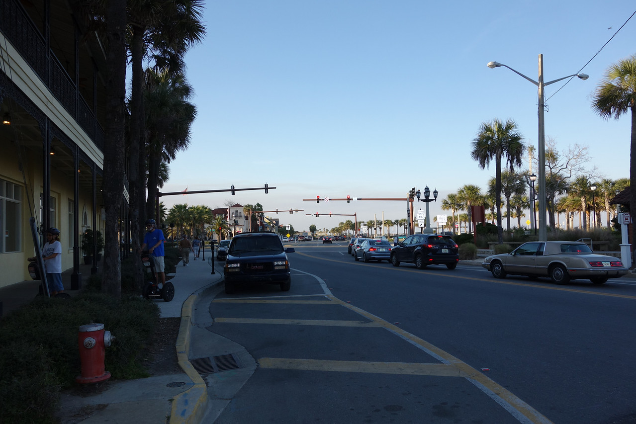 One of the main streets in St. Augustine