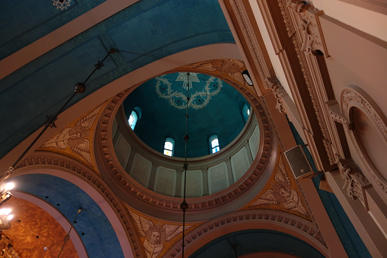 The Dome rises over 100 feet and encompasses several religious symbols