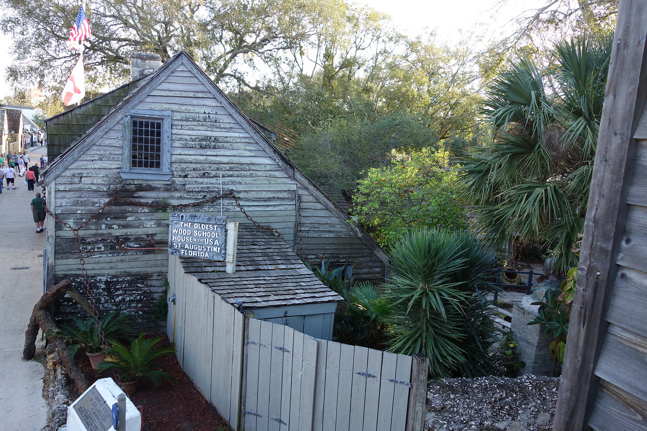 The oldest wood school house as seen from our deck
