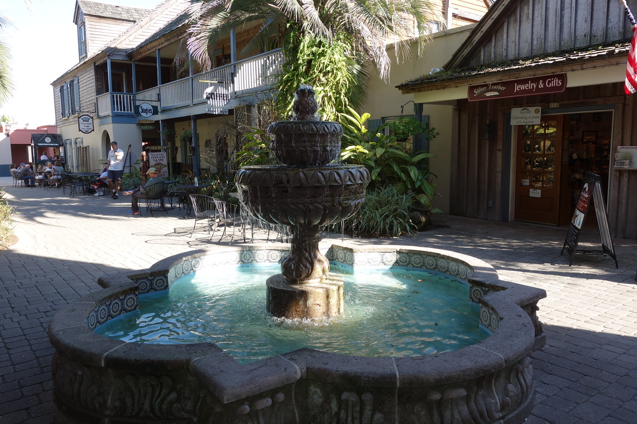 Fountain in the courtyard of the St. George Inn