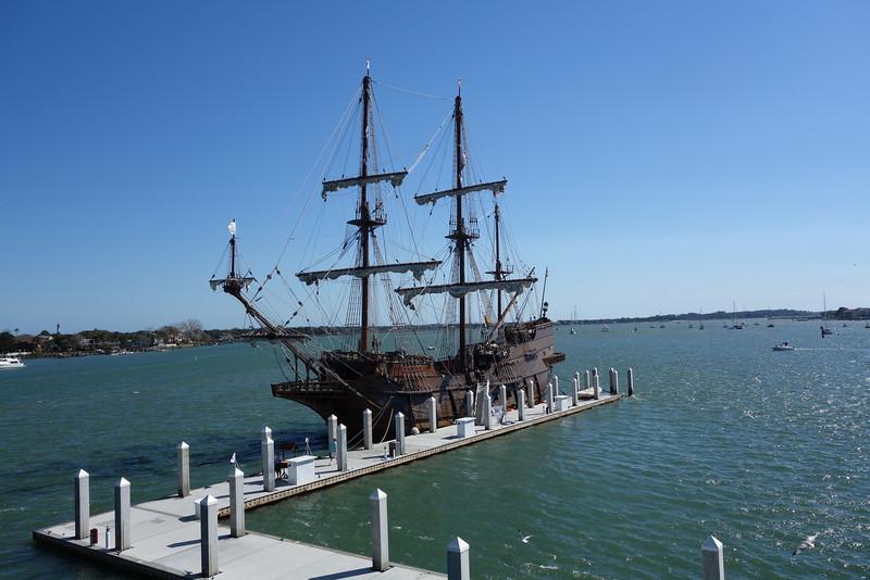 Replica of a pirate ship