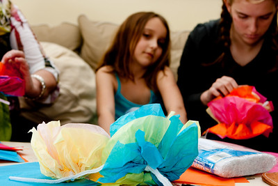 More paper flowers.