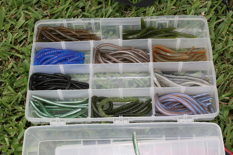 Can't have a fishing tournament without colorful worms!