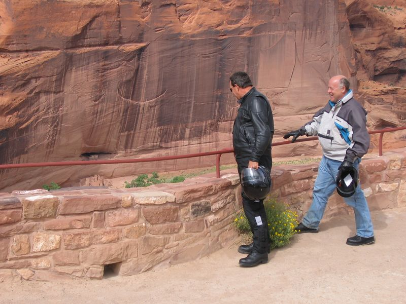 Pete and Cliff are laughing because Gus is telling them to back away from the edge. Robert and JJ missed this because they blew by the entrance to the park. Later we got a call that Robert's aftermarket shock had collapsed. We never saw them again.