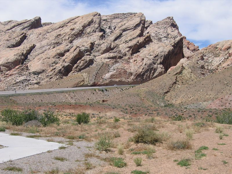 On my way home now. I-70 goes through the San Rafael Swell. This is the eastern edge.