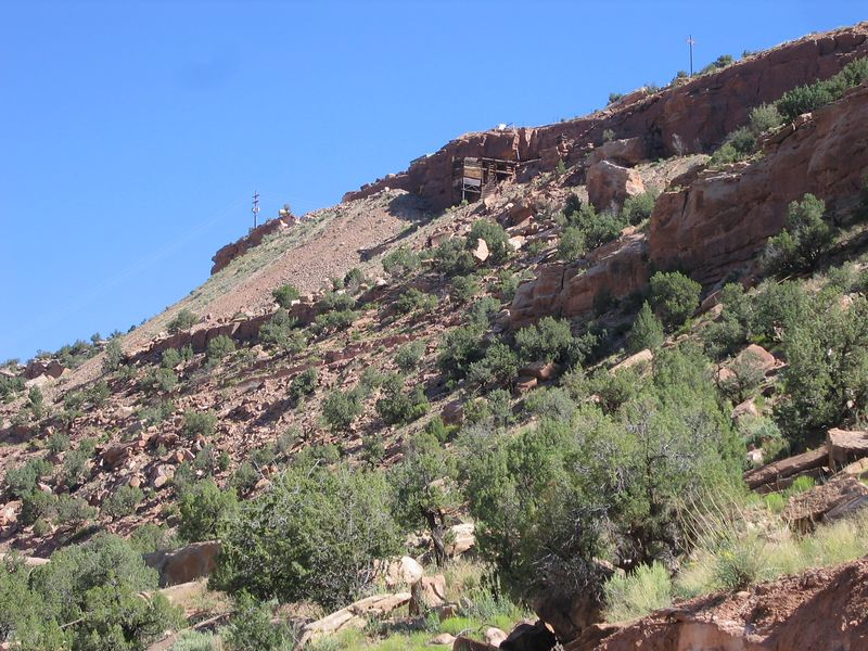 We took CO 141, a hugely scenic road, where I found this old mine.