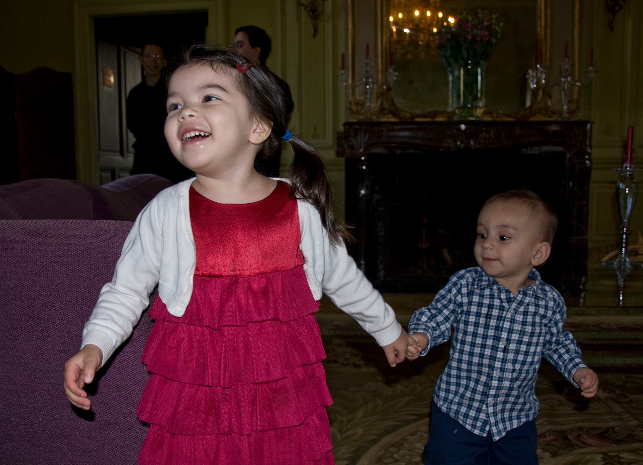 Kids enjoying the chateau too.