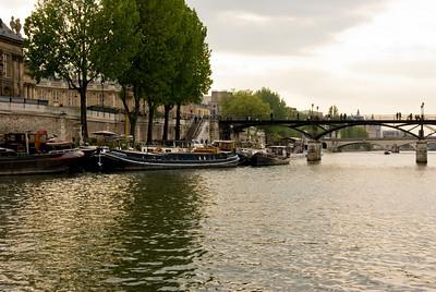 The River Seine and Pont Des Arts.