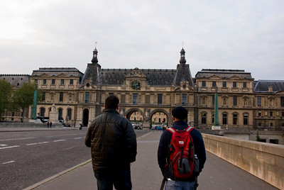 Heading to the Louvre