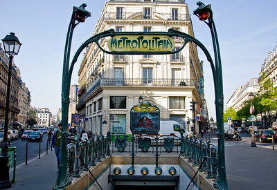The beautiful Metro station entrance. Off to Montmartre to meet up with Evan and Richard.