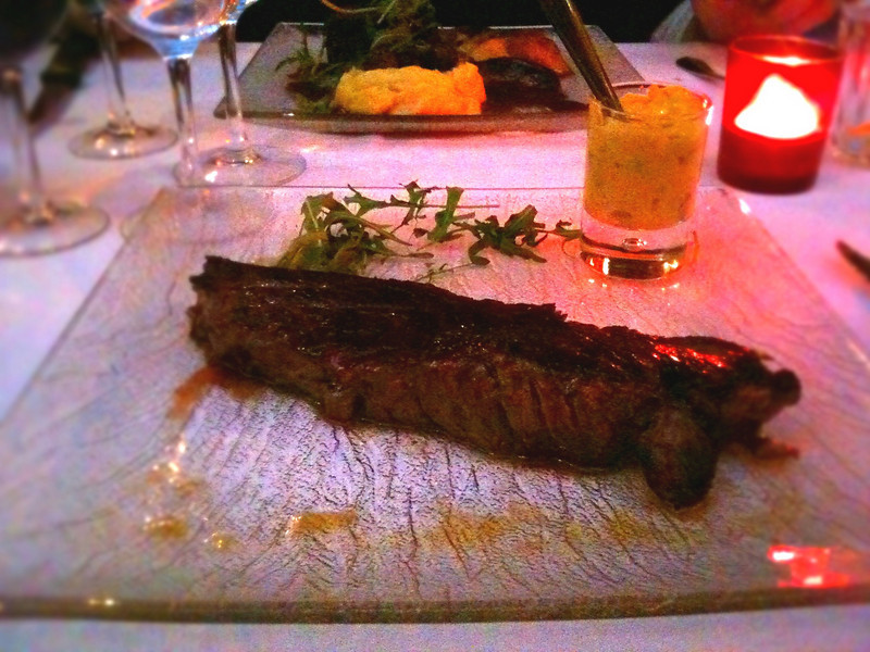 My super delicious Bavette steak. Yum!